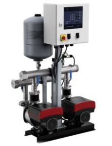 Grundfos® Multi-B variable speed duplex booster system.
